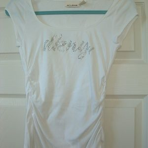 DKNY Jeans Tee Top Stretch Fitted